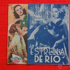 Cine: LA ESTRELLA DE RIO, DOBLE EXCELENTE. ESTADO, LA JANA, CON PUBLICIDAD CINE DORADO. Lote 40543872