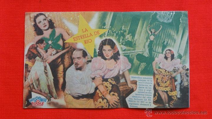 Cine: LA ESTRELLA DE RIO, DOBLE EXCELENTE. ESTADO, LA JANA, CON PUBLICIDAD CINE DORADO - Foto 2 - 40543872