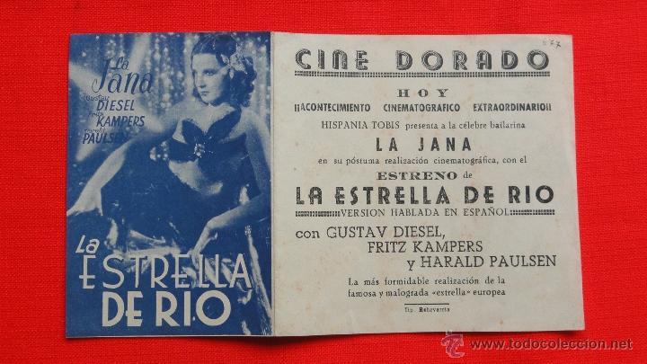 Cine: LA ESTRELLA DE RIO, DOBLE EXCELENTE. ESTADO, LA JANA, CON PUBLICIDAD CINE DORADO - Foto 3 - 40543872