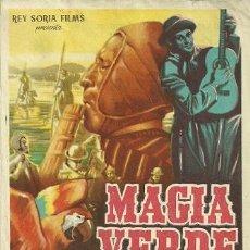 Cine: PROGRAMA DE MANO DE LA PELICULA MAGIA VERDE. Lote 40624432