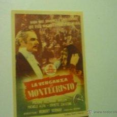 Cine: PROGRAMA LA VENGANZA DE MONTECRISTO .-PIERRE RICHARD WILLM -PUBLICIDAD CINE VERANO - ESTEPA???. Lote 40629949