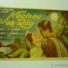 Cine: PROGRAMA NOCHES EN RIO - BASIL RATHBONE. Lote 40635369