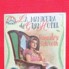 Cine: LA MANICURA DEL GRAN HOTEL, IMPECABLE SENCILLO HANNELORE SCHROTH, CON PUBLI GALERIA CINEMA CONDAL. Lote 40671716