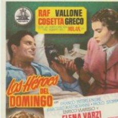 Cine: LOS HÉROES DEL DOMINGO. SENCILLO CIFESA.TEATRO EMPERADOR-LEÓN 1954. ¡IMPECABLE!. Lote 40750488