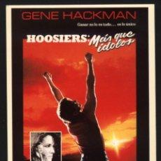 Cine: P-2958- HOOSIERS. MAS QUE IDOLOS (GENE HACKMAN - BARBARA HERSHEY). Lote 24598480