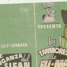 Cine: LOS TAMBORES DE FU MANCHU.DOBLE TROQUELADO DE CHAMARTÍN.. Lote 40816898