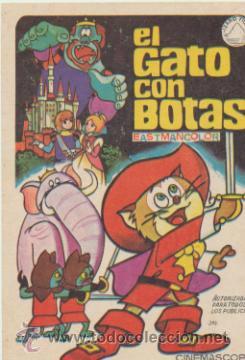 EL GATO CON BOTAS. SENCILLO DE IZARO FILMS. (Cine - Folletos de Mano - Infantil)