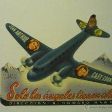 Cine: PROGRAMA TROQUELADO SOLO LOS ANGELES TIENEN ALAS- JEAN ARTHUR. Lote 40933385