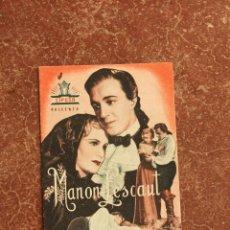 Cine: FOLLETO DE MANO: MANON LESCAUT. Lote 40939584