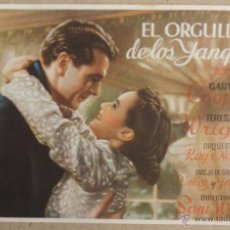 Cine: FOLLETO DE MANO CINE EL ORGULLO DE LOS YANQUIS. Lote 41009806