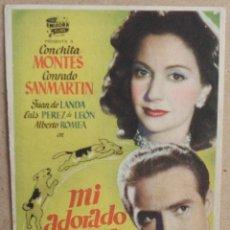 Cine: FOLLETO DE MANO CINE MI ADORADO JUAN CON PUBLICIDAD AL DORSO. Lote 41011355