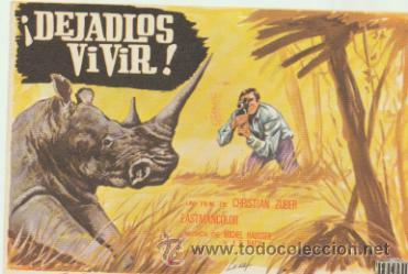 ¡DEJADLOS VIVIR! SENCILLO DE MERCURIO. (Cine - Folletos de Mano - Documentales)