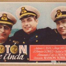 Cine: FOLLETO DE MANO CINE BOTON DE ANCLA CON PUBLICIDAD AL DORSO. Lote 41057651