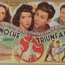 Cine: FOLLETO DE MANO CINE NOCHE TRIUNFAL CON PUBLICIDAD AL DORSO. Lote 41058009