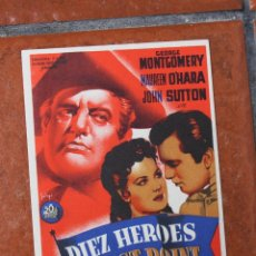 Cine: FOLLETO DE MANO: DIEZ HEROES DE WEST POINT. Lote 41063593