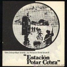 Cine: P-3194- ESTACION POLAR CEBRA (ICE STATION ZEBRA) (DOBLE) (ROCK HUDSON - ERNEST BORGNINE - JIM BROWN). Lote 41070000
