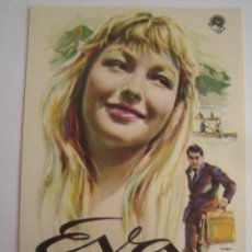 Cine: EVA - MARINA VLADY MAC - FOLLETO DE MANO ORIGINAL ESTRENO - RENE LEFEVRE ROBERT HOSSEIN. Lote 41204020
