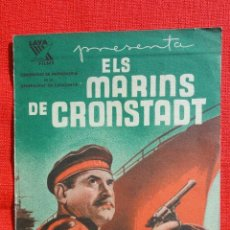 Cine: ELS MARINS DE CRONSTADT, IMPECABLE DOBLE 1937 COMISARIAT DE PROPAGANDA GENERALITAT CON PUBLI FORTUNY. Lote 41216569