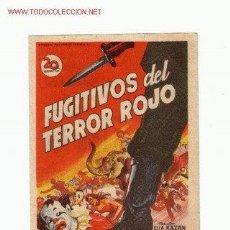 Cine: -54030 PROSPECTO DE CINE FUGITIVOS DEL TERROR ROJO, CON FREDRIC MARCH Y GLORIA GRAHAME. Lote 41227493