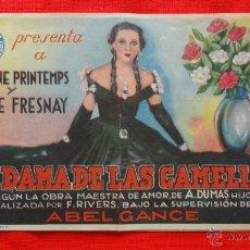 Cine: LA DAMA DE LAS CAMELIAS, DOBLE 1935 EXCTE. ESTADO, YVONNE PRINTEMPS PIERRE FRESNAY CON PUBLI FORTUNY. Lote 41233719