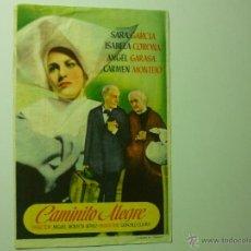 Foglietti di film di film antichi di cinema: PROGRAMA CAMINITO ALEGRE- SARA GARCIA. Lote 41234765