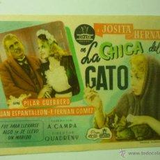 Cine: PROGRAMA LA CHICA DEL GATO .-JOSITA HERNAN. Lote 41235082