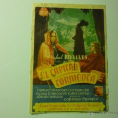 Cine: PROGRAMA EL CAPITAN TORMENTA .-RAFAEL RIVELLES-SELLO CINE GRAN CINEMA -LLANERA. Lote 41238436