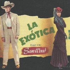 Cine: LA EXOTICA - TROQUELADO -CINE GRANADA - (C-2093). Lote 41268421