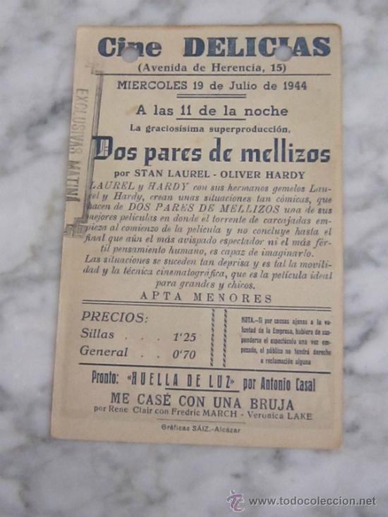 Cine: PROGRAMA DE CINE - DOS PARES DE MELLIZOS - 1936 - PUBLICIDAD - Foto 2 - 41322152