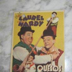Cine: PROGRAMA DE CINE - QUESOS Y BESOS - 1938. Lote 41322704