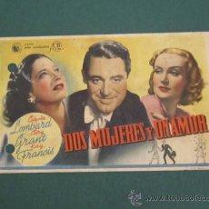 Cine: PROGRAMA DE CINE - DOS MUJERES Y UN AMOR - 1939 - PUBLICIDAD. Lote 41333174