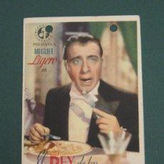 Cine: PROGRAMA DE CINE - EL REY DE LAS FINANZAS - 1944 - PUBLICIDAD. Lote 41333376