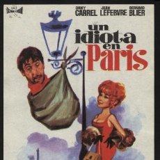 Cine: P-3386- UN IDIOTA EN PARIS (UN IDIOT À PARIS) DANY CARREL - JEAN LEFEBVRE - BERNARD BLIER. Lote 21865777