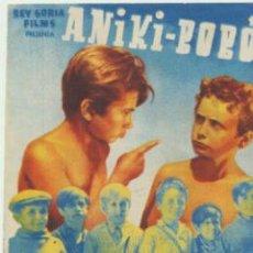 Cine: ANIKI - BOBÓ. DOBLE DE REY SORIA.. Lote 41400558