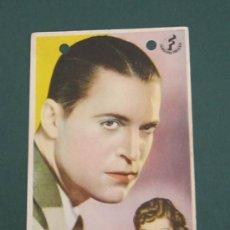 Cine: PROGRAMA DE CINE - VOLVIERON CINCO - 1939. Lote 41402315