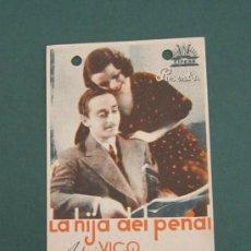 Cine: PROGRAMA DE CINE - LA HIJA DEL PENAL - 1935. Lote 41402612