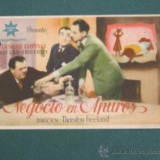 Cine: PROGRAMA DE CINE - NEGOCIO EN APUROS - 1938 - PUBLICIDAD - DOBLADO. Lote 41403001