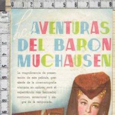 Cine: LAS AVENTURAS DEL BARON DE MUCHAUSEN-FOLLETO DE MANO.. Lote 41420503