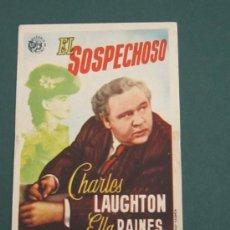 Cine: PROGRAMA DE CINE - EL SOSPECHOSO - 1944 - PUBLICIDAD - DOBLADO. Lote 41422135