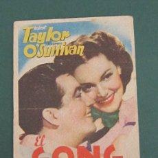 Cine: PROGRAMA DE CINE - EL GONG DE LA VICTORIA - 1938 - PUBLICIDAD - DOBLADO. Lote 41422641