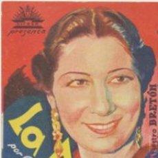 Foglietti di film di film antichi di cinema: LA DOLORES . SENCILLO DE CIFESA. . Lote 41425913