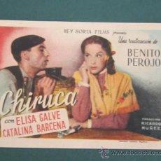 Cine: PROGRAMA DE CINE - CHIRUCA - 1946 - PUBLICIDAD. Lote 41439640