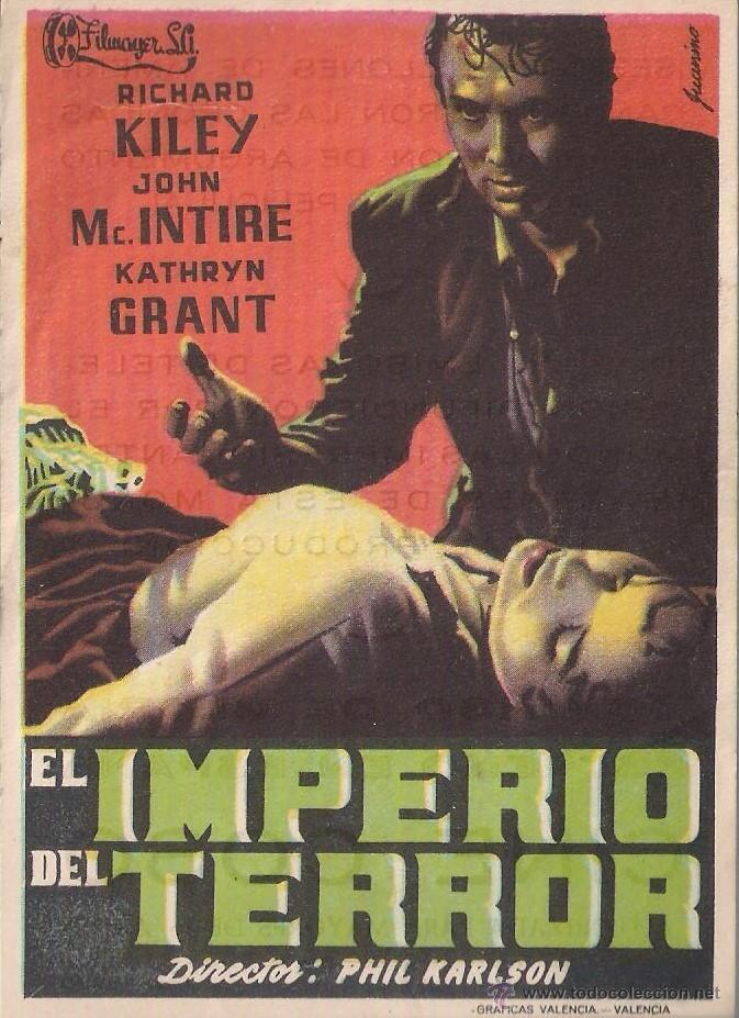 FOLLETO DE MANO - EL IMPERIO DEL TERROR. CINE COSO ZARAGOZA 1957 (Cine - Folletos de Mano - Terror)