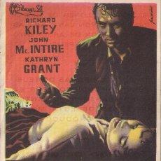 Cine: FOLLETO DE MANO - EL IMPERIO DEL TERROR. CINE COSO ZARAGOZA 1957. Lote 41462172
