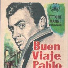 Cine: FOLLETO DE MANO - BUEN VIAJE PABLO.... CINE COSO ZARAGOZA 1960. Lote 41462233