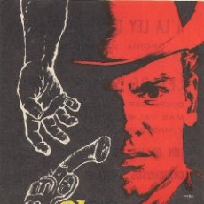 Cine: FOLLETO DE MANO - EL SALARIO DE LA VIOLENCIA. CINE PALAFOX ZARAGOZA 1960. Lote 41462267