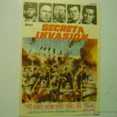Cine: PROGRAMA SECRETA INVASION .- STEWART GRANGER PUBLICIDAD. Lote 41472084