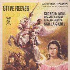 Cine: FOLLETO DE MANO - EL DIABLO BLANCO. CINE VICTORIA ZARAGOZA 1960. Lote 41474003