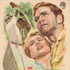 Cine: FOLLETO DE MANO - AL OESTE DE ZANZIBAR. CINE COSO ZARAGOZA 1958. Lote 41495307