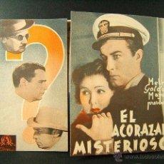 Cine: EL ACORAZADO MISTERIOSO-E.SEDGWICK-TOBERT TAYLOR-UGT-CNT-CINE TEATRE CAMPS I CERVANTES-SABADELL-1937. Lote 41503095